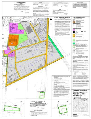 """Bebauungsplan Nr. 17 """"Gewerbegebiet Kleine Häg""""©Einheitsgemeinde Hambühren"""