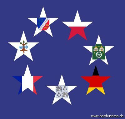Partnerschaftstreffen 2009 Euroflaggesamt©Einheitsgemeinde Hambühren