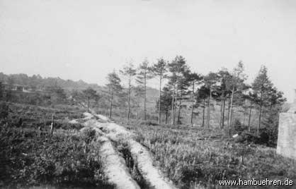 Geschichte eines Bunkers - Blick nach Süden vom Muna-Bunker 3 - Lönsweg 11©Einheitsgemeinde Hambühren
