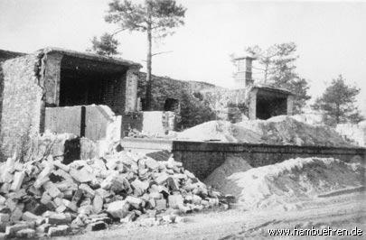 Geschichte eines Bunkers - 1949 Abbruch der Rampen©Einheitsgemeinde Hambühren