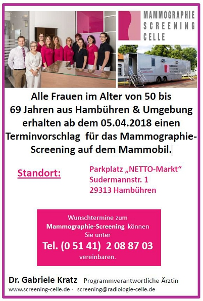 Mammographie-Screening Celle©Mammographie-Screening Celle